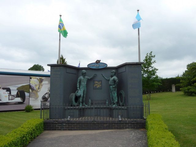 Senna Fangio Memorial, Donington Grand Prix Motor Museum, Castle Donington