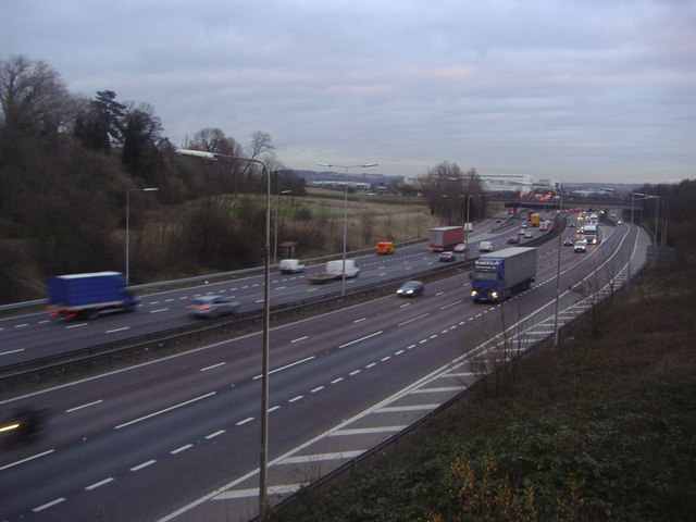 The M25 from Bulls Cross