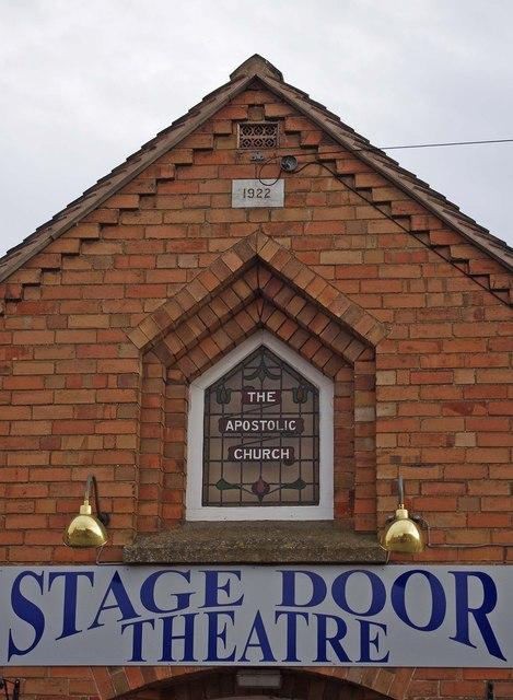 Stage Door Theatre (3) - detail, Aston Street, Wem