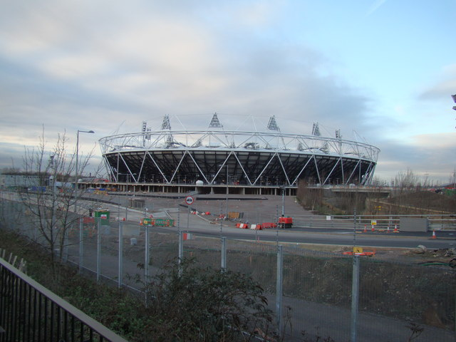 View of the Olympic Stadium from the Greenway