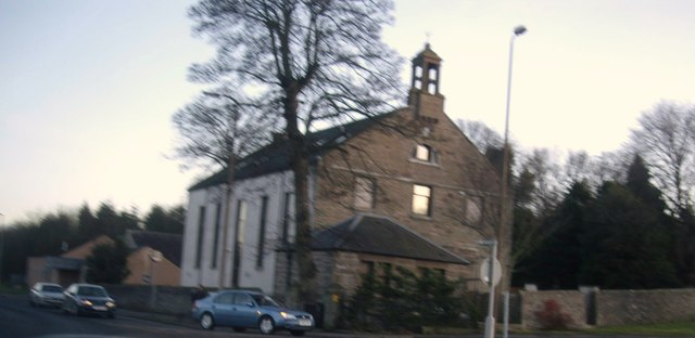 Old Mains Parish Church, by Trottick roundabout