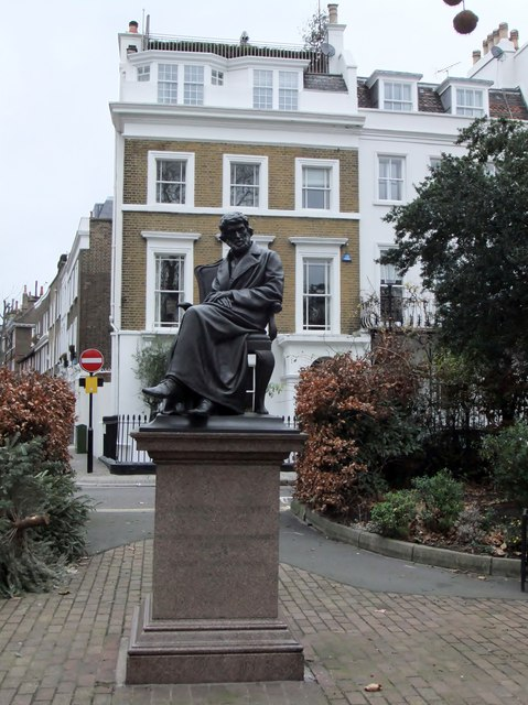 Thomas Carlyle statue, Chelsea Embankment Gardens SW10
