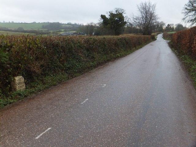 Milestone on Exeter Hill
