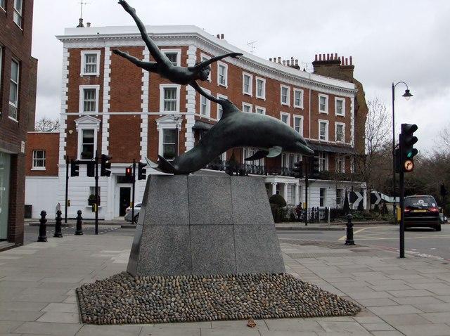 """""""Boy With A Dolphin"""", Cheyne Walk SW10"""