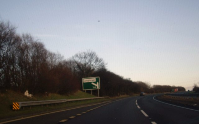 Approaching junction for Longforgan off A90