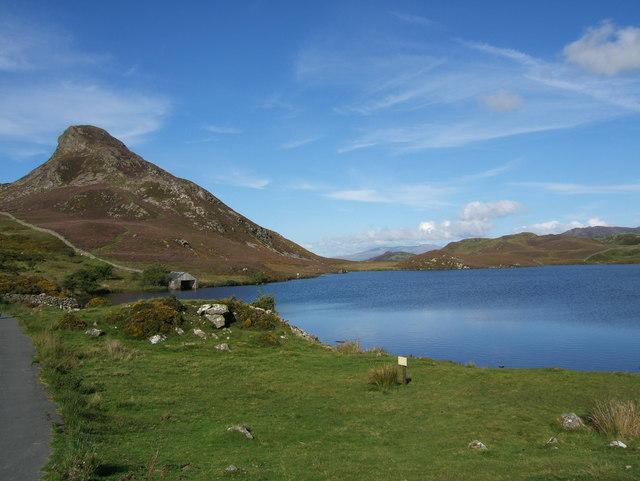 Lake and boathouse
