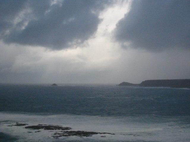 Stormy skies over Whitesand Bay