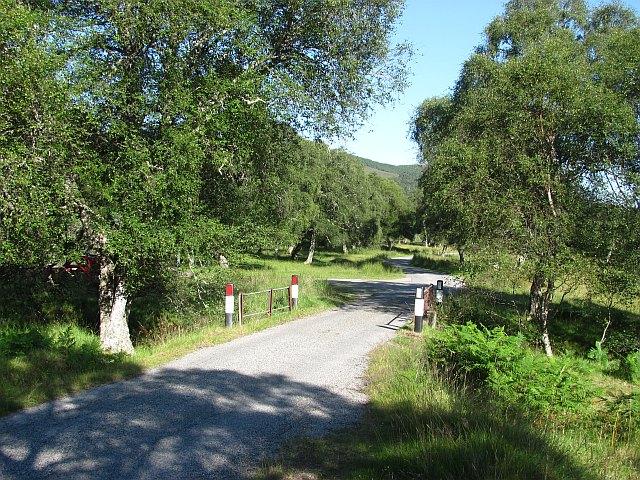 Road in Glen Cassley