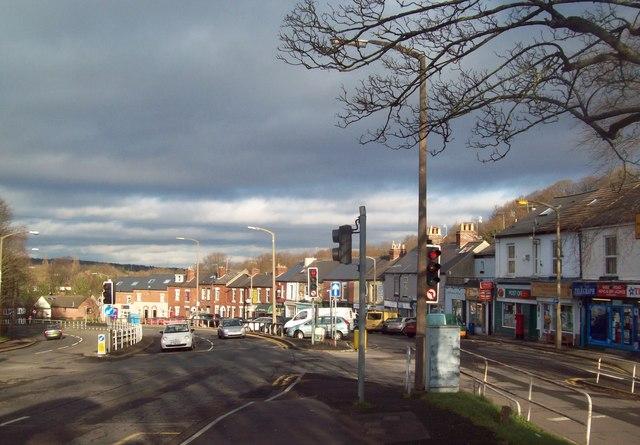 Shops Alongside Baslow Road, Totley Rise