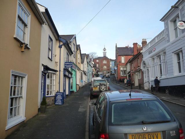 Part of Bishop's Castle High Street