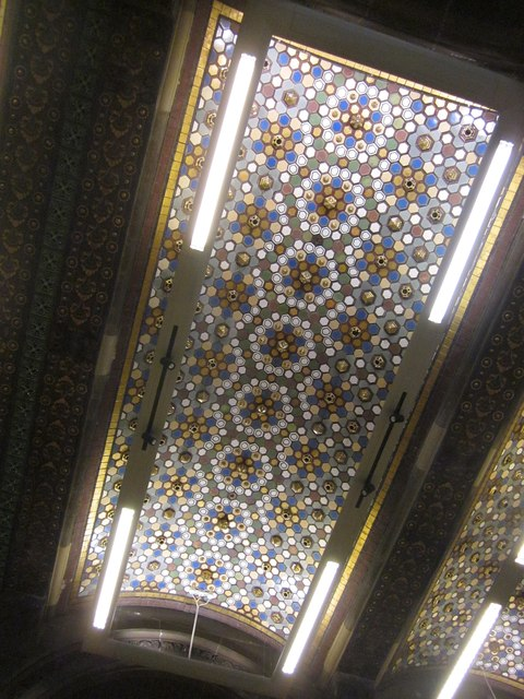 Part of ceiling,Tiled Hall, Leeds Central Library