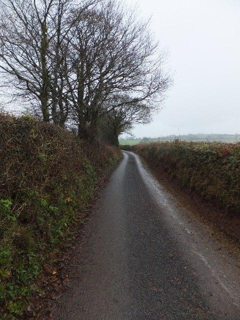 Minor road near Overleigh towards Burrow Corner