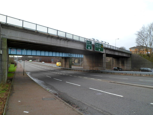 Two bridges over Western Avenue, Cardiff
