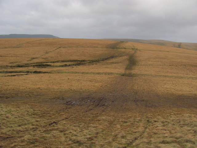 Moorland north of Pen y Foel