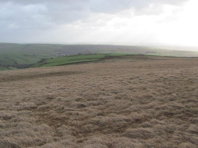 Moorland south of Pen y Foel