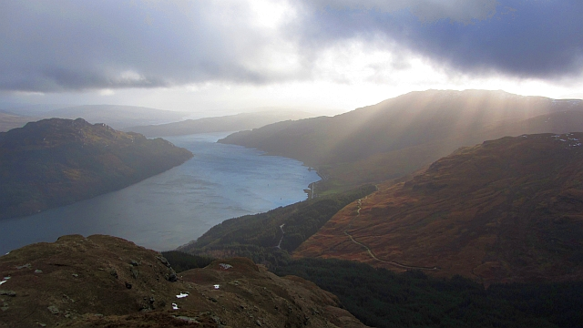 Loch Goil seen from Cruach nam Miseag