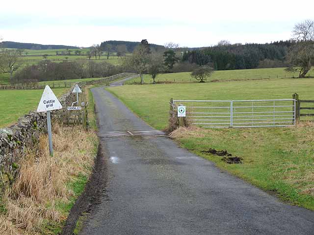 The road to Fairnley