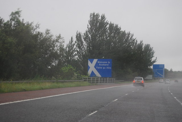 Welcome to Scotland, A74(M)
