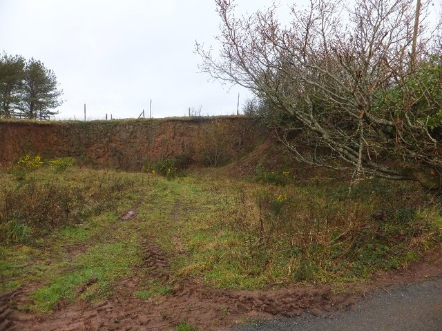 Former quarry on road north-east of Bickleigh