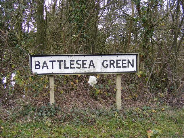 Battlesea Green Sign