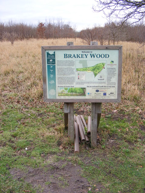 Information Board at the entrance to Brakey Wood