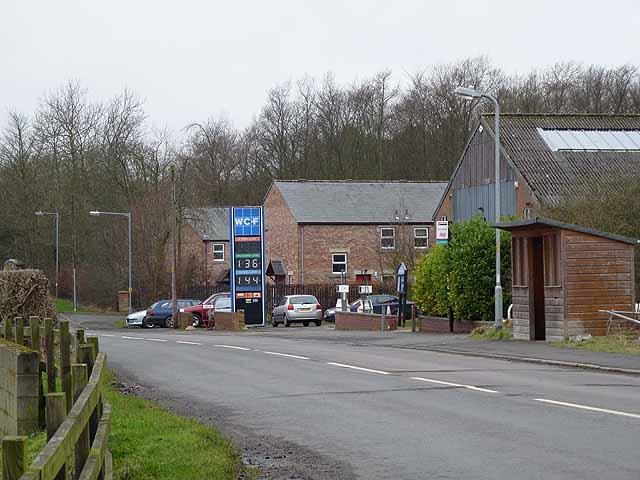 Filling station at Scots Gap