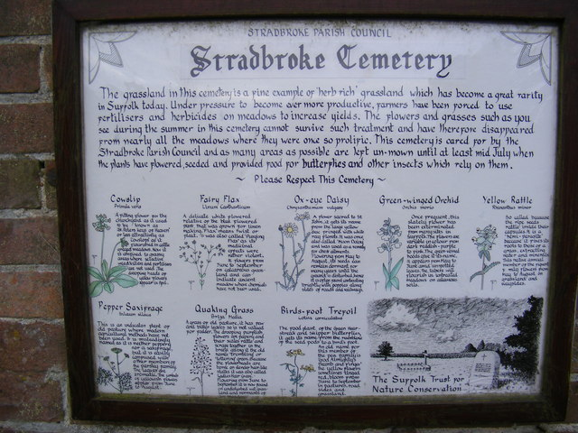 Sign on the Chapel at Stradbroke Cemetery