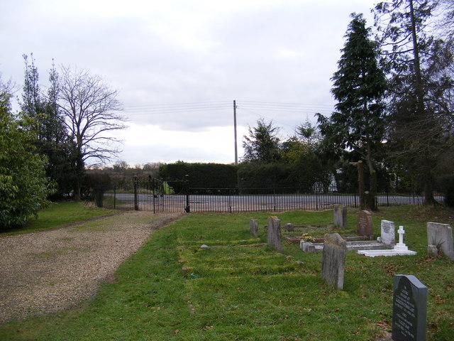 The entrance to Stradbroke Cemetery