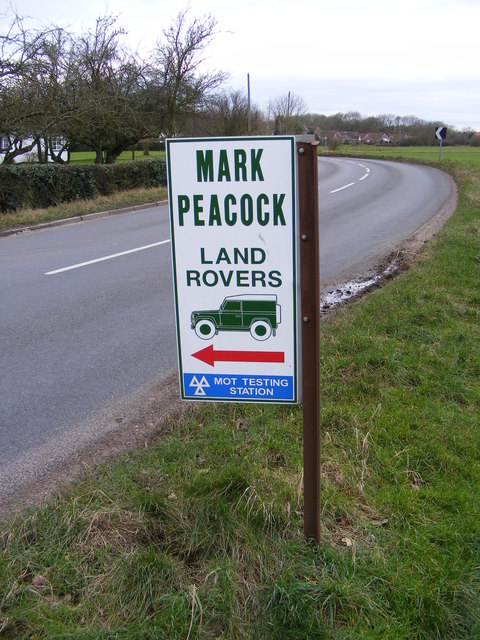 Mark Peacock Land Rovers sign