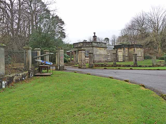 Gateway and lodge to Meldon Park
