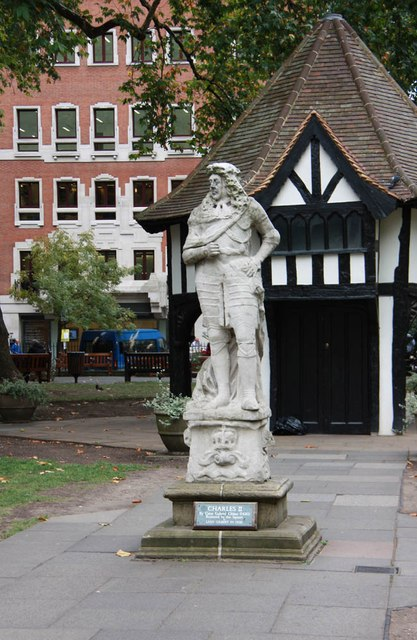 Statue, Soho Square - Charles II