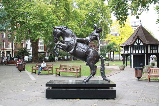 Statue, Soho Square - The Conversion of St Paul