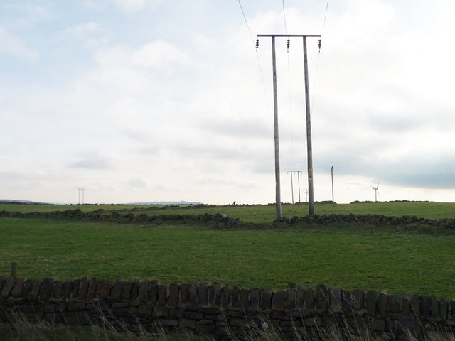 Telegraph poles at Hepshaw Brow