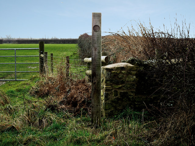 Stile and Footpath near Wick village