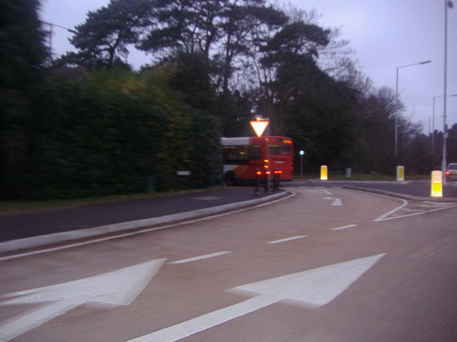 Junction of The Maultway and Upper Chobham Road