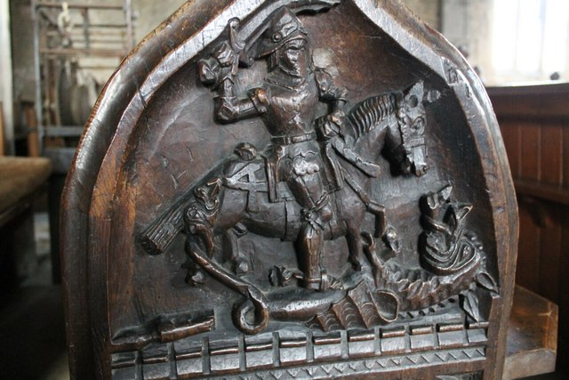 Oak Pew End, SS Peter & Paul church, Osbournby