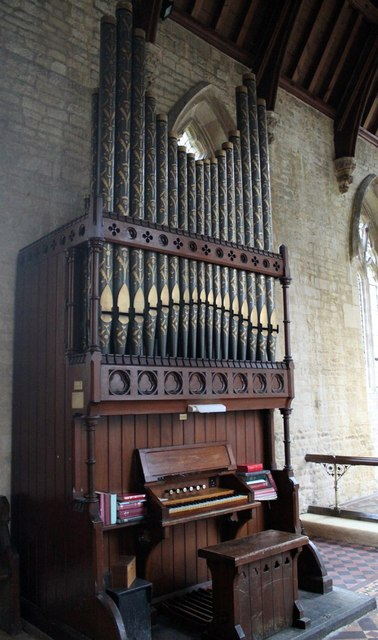 Organ in Osbournby church