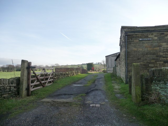 Footpath at Birk House Farm