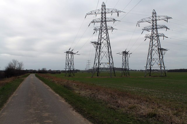 Electricity Pylons near The Drove