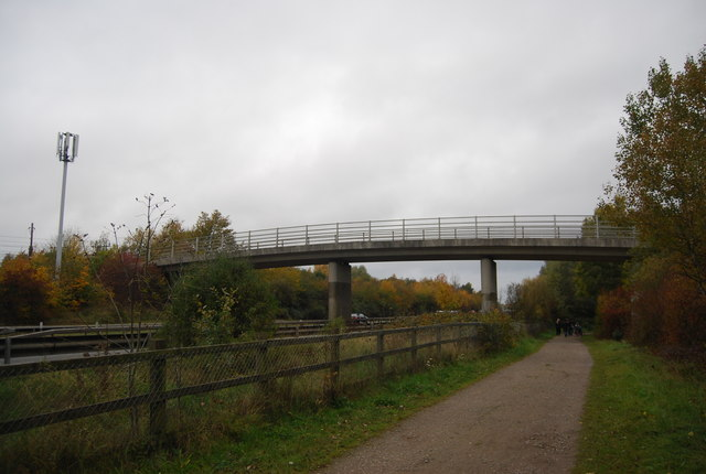 Footbridge over the Blackwater Valley Path and Road