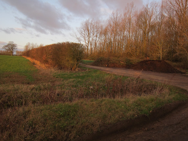 Hardstanding area by Bexwell Lane