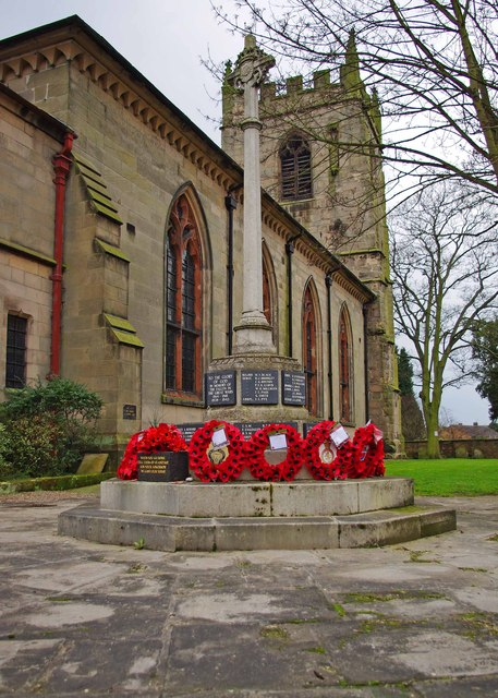 Wem War Memorial, High Street, Wem
