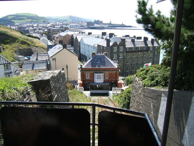 Lower terminus of cliff railway