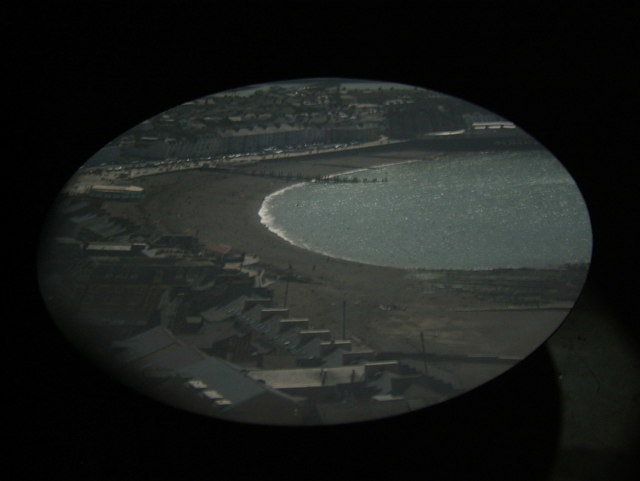 Aberystwyth sands seen through the camera obscura
