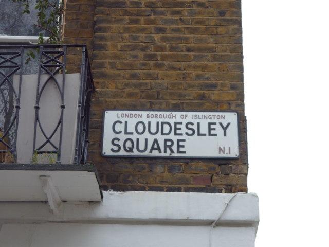 Street sign, Cloudesley Square N1