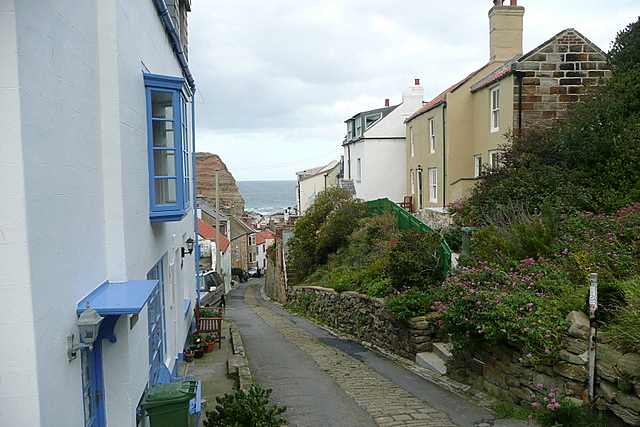 Approaching Staithes
