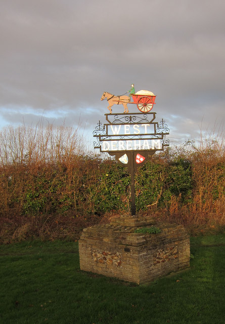 West Dereham village sign