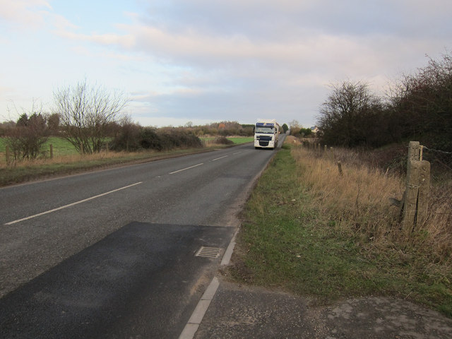 Sugar beet lorry on College Farm