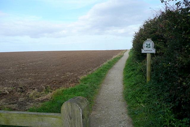 Coastal path north from Runswick Bank Top