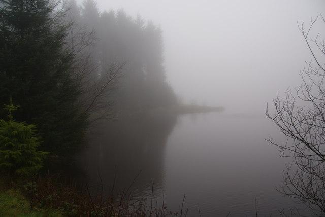 The lake at Bwlch Nant-yr-Arian